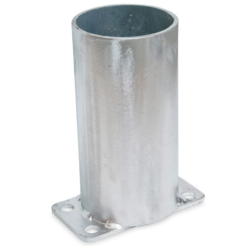 Bollard Base Only 90mm Surface Monted Removable - Galvanized